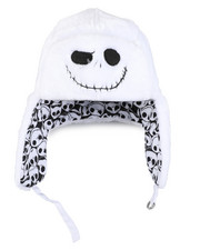Fashion Lab - Nightmare Before Christmas Faux Fur Reversible Bomber Hat-2448475
