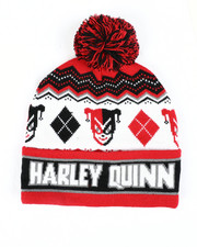 Fashion Lab - Harley Quinn Knit Pom Beanie-2448300