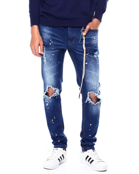 Buyers Picks - Paint Splatter Distressed Stretch Jean