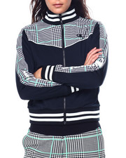 Champion - Tricot Track Jacket-Houndstooth All Over Print-2447983