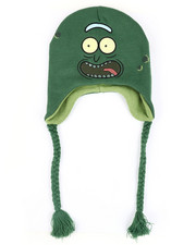 Hats - Rick & Morty Pickle Rick Face Peruvian Knit Hat-2448323