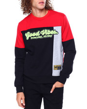 Sweatshirts & Sweaters - Good Vibes Colorblock Crewneck Sweatshirt-2449407