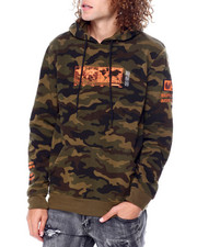 The Camper - EARTH DAY CAMO PRINT & EMB HOODIE-2450109