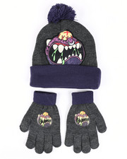 Hats - Madballs Monster Baseball Pom Beanie & Gloves Set-2448288