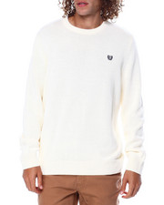 Sweatshirts & Sweaters - CREWNECK LONG SLEEVE Cotton SWEATER-2448938