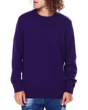 Sweatshirts & Sweaters - CREWNECK LONG SLEEVE Cotton SWEATER-2448943