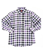 Button-downs - Yarn Dyed Plaid Woven Shirt (8-18)-2449090