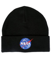 Fashion Lab - Nasa Knit Cuff Beanie-2448294