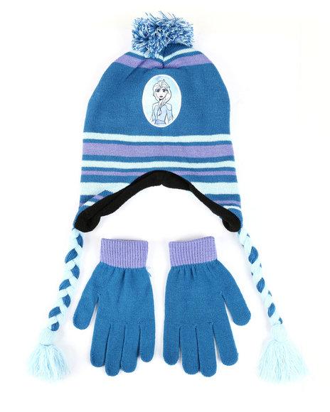 La Galleria - Frozen 2 Elsa Pom Peruvian Hat & Gloves Set