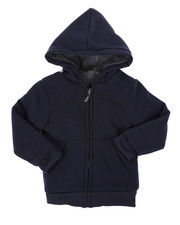 Boys - Solid Sherpa Lined Full Zip Hoodie (4-7)-2449013