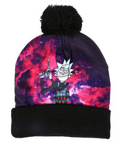 Fashion Lab - Rick & Morty Galaxy Run Cuff Pom Beanie-2448293