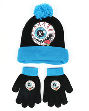 Hats - MadBalls Pom Beanie & Gloves Set-2448284