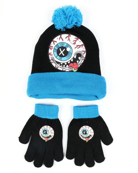 Arcade Styles - MadBalls Pom Beanie & Gloves Set