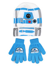 Hats - Star Wars R2-D2 Cuff Beanie & Gloves Set-2448285