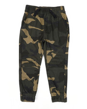 Arcade Styles - Stretch Printed Camo Moto Twill Jogger Pants (2T-4T)-2444827