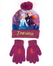Girls - Frozen Fearless Beanie & Gloves Set-2448204