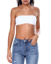 Women - Lace Trim Shirred Front Padded Bandeau-2447801