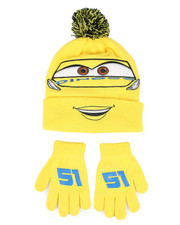 Arcade Styles - Cars 3 Cruz Pom Beanie & Gloves Set-2446157