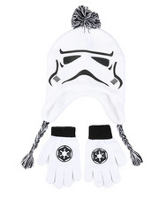 Hats - Star Wars Storm Trooper Peruvian Hat & Gloves Set-2448250