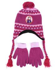 Winter Accessories - Frozen 2 Anna Pom Peruvian Hat & Gloves Set-2448238