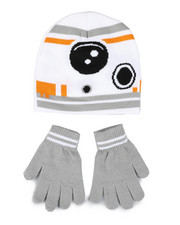 Hats - Star Wars BB-8 Beanie & Gloves Set-2448290