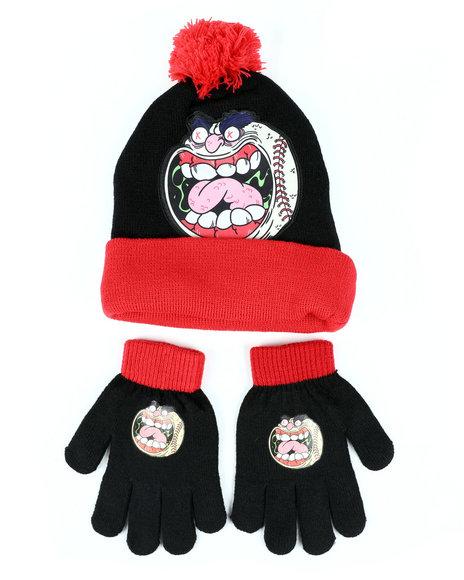 Arcade Styles - MadBalls Monster Baseball Pom Beanie & Gloves Set