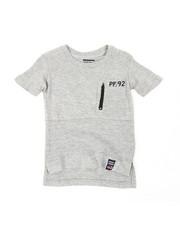 Tops - Pintuck Zip Front PCKT Crew Tee (2T-4T)-2444751