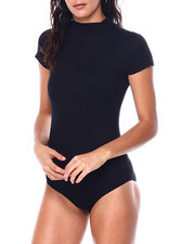 Fashion Lab - S/S Mock Neck Ribbed Bodysuit-2447641