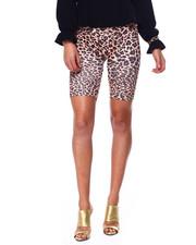 Fashion Lab - High Waist Cheetah Print Shorts-2447776
