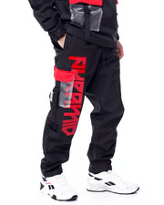 Sweatpants - Clear Pocket Strapped Pant-2450201