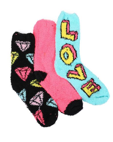 Fashion Lab - 3PK Diamond Cozy Socks