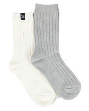 Accessories - 2 Pk Solid Rib Boot Socks-2444038