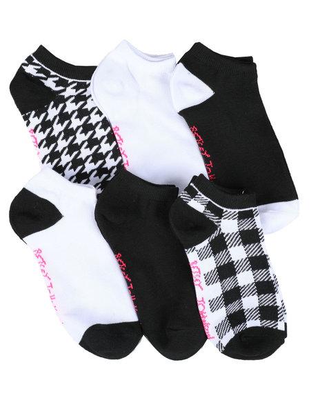 Fashion Lab - 6PK Pattern Low Cut Socks