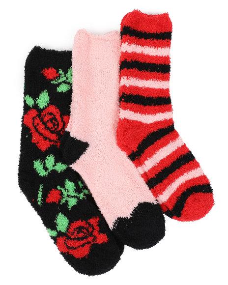 Fashion Lab - 3PK Floral Cozy Socks