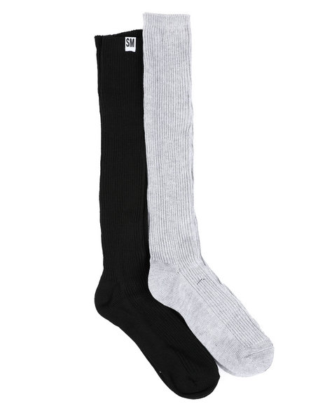 Fashion Lab - 2 Pk Ribbed Knee High Socks