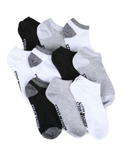 Women - 10 Pk Solid & Marled Low Cut Socks-2444044