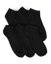 Socks - 6 Pack 1/2 Cushion No Show Socks-2448674