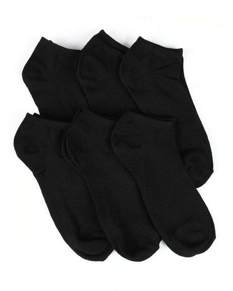 Buyers Picks - 6 Pack 1/2 Cushion No Show Socks