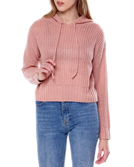 Fashion Lab - L/S Hooded Boxy Crop Pullover