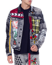 Denim Jackets - Mash Up Denim Jacket-2451150