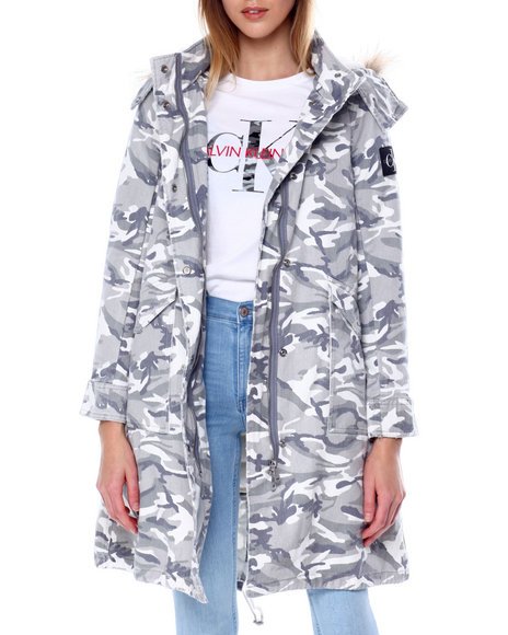 Calvin Klein - Puffer Jacket W/Sherpa Hood Lining & Detachable Hood