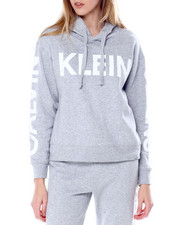 Women - Shiny Traveling Rubber Logo L/S Drop Shoulder Hoodie-2450732