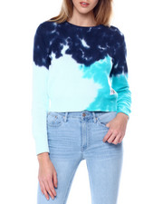 Women - Tie Dye Cotton Crew Neck Sweater-2450722