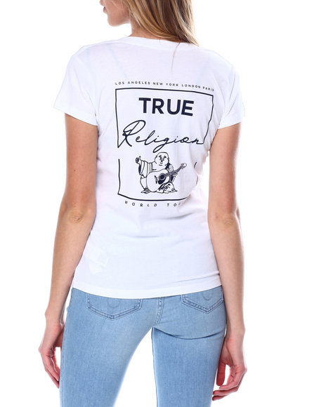 True Religion - Buddha V Neck Tee
