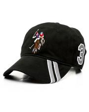 Dad Hats - U.S. Polo Assn. Stripe Visor Dad Hat-2447427