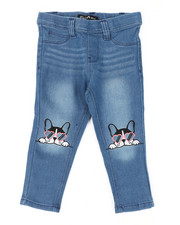Bottoms - Pull-On Denim Jeggings W/ Knee Embroidery (2T-4T)-2429990