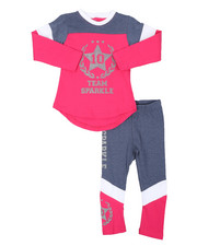Sets - 2 Pc Athleisure Top & Leggings Set (2T-4T)-2448714