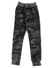 Activewear - Camo Print Joggers W/ Zippers (8-20)-2451436