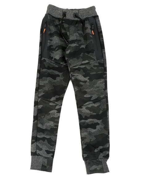 Arcade Styles - Camo Print Joggers W/ Zippers (8-20)