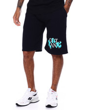 OUTRANK - Green Island Logo Shorts-2452070
